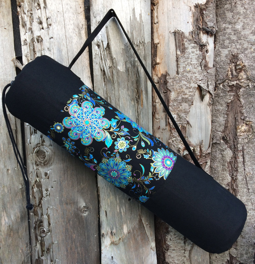 Yoga Mat Bag/ passion flower
