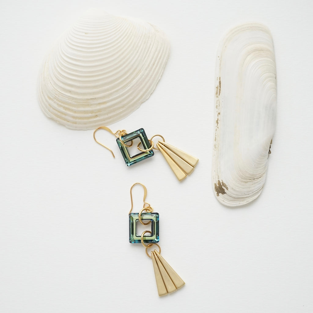 Bermuda Fan Earrings