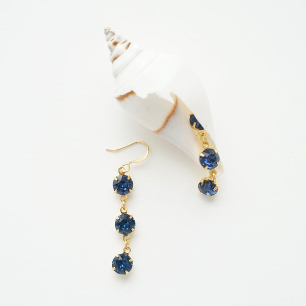 Deep Blue Drop Earrings