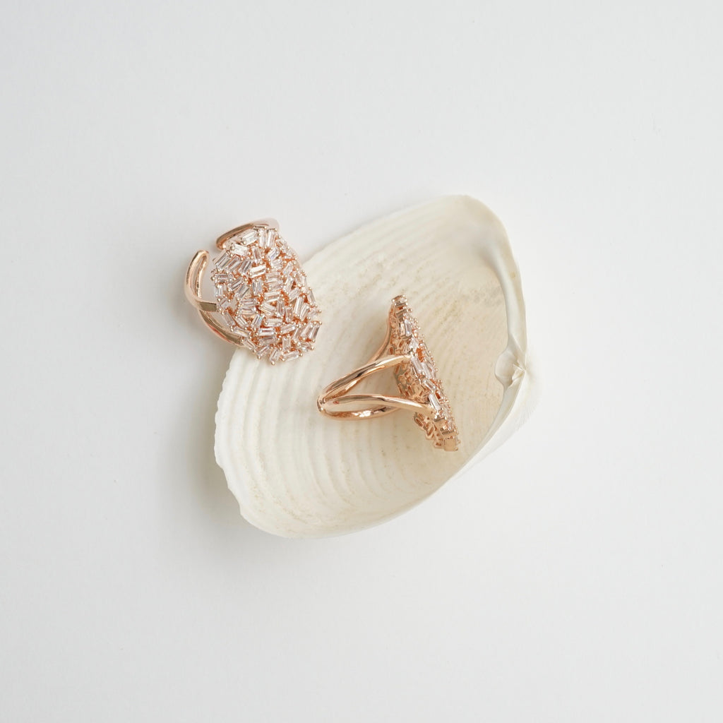 Theia Oval Rose Gold Goddess Ring