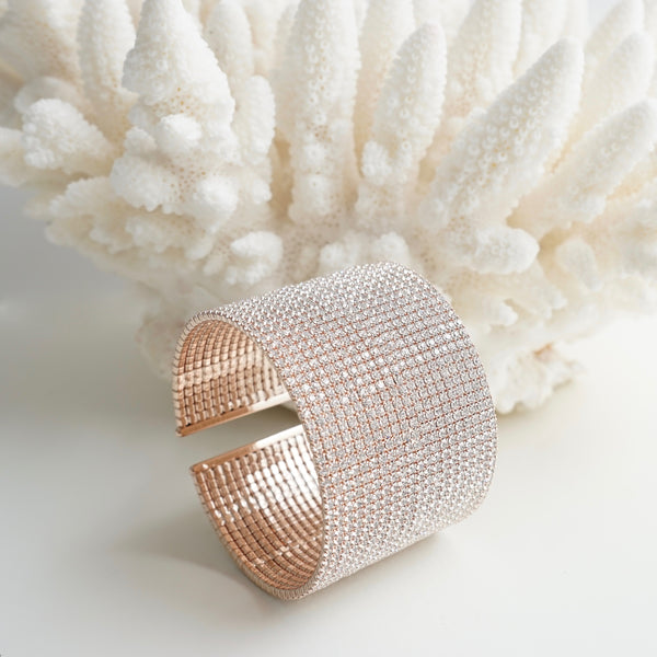 Theia Sparkling Rose Gold Cuff