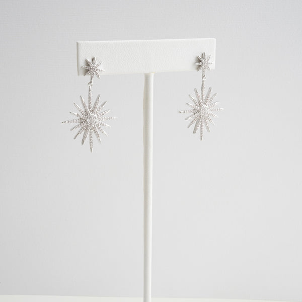 Theia Shining Star Double Drop Earrings