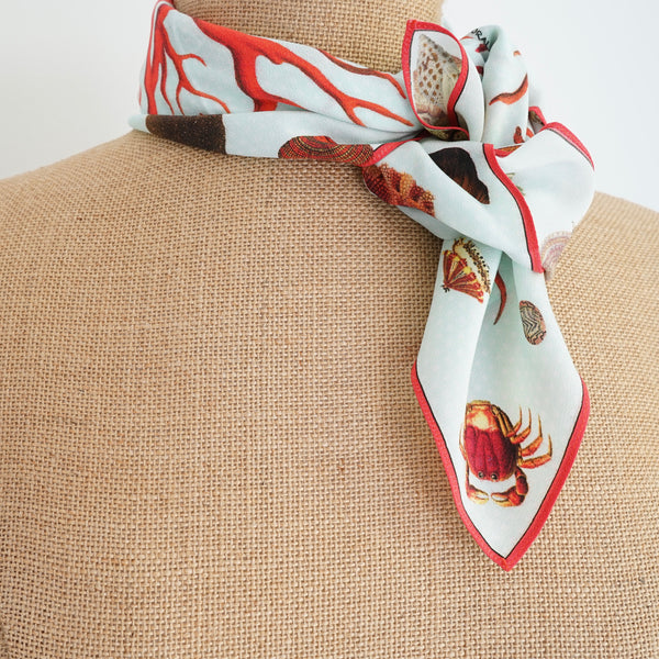 Carson and Co Red Coral Silk Neckerchief