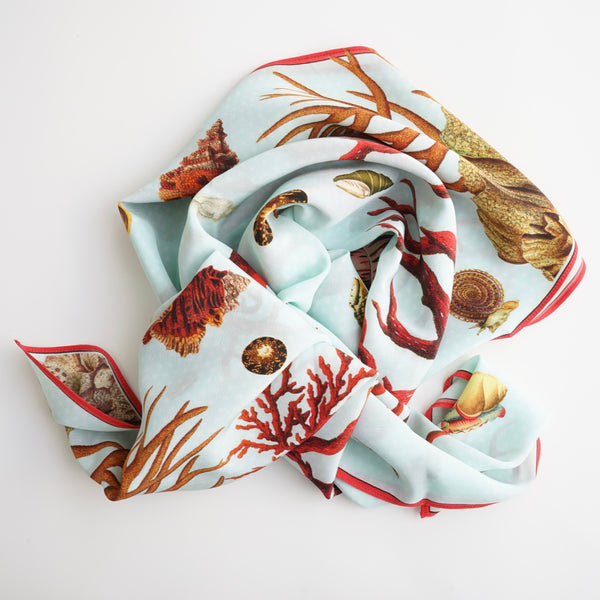 Carson and Co Red Coral Silk Scarf