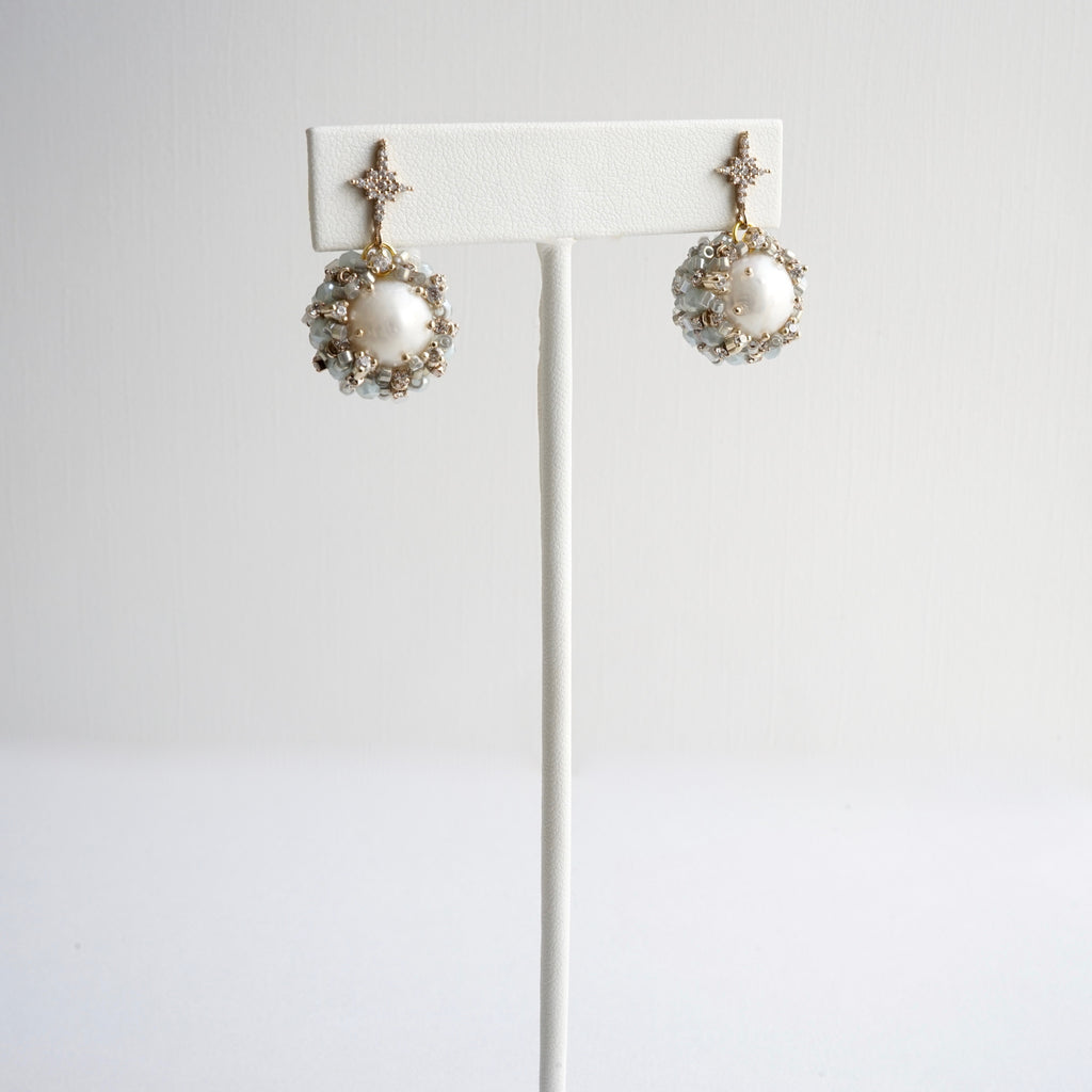 Theia Isabella Swarovski & Pearl Earrings – Stars in the Sand