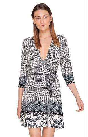 Hale Bob Amal Jersey Wrap Dress
