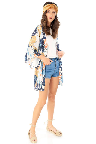 Saltwater Kimono Open Back Dress