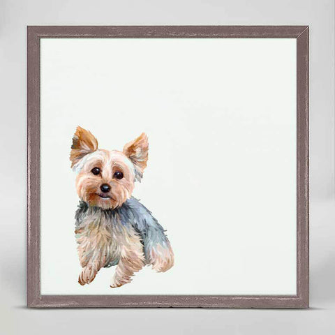 Greenbox Yorkie Mini Framed Canvas