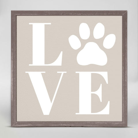 Greenbox Puppy Love Mini Framed Canvas