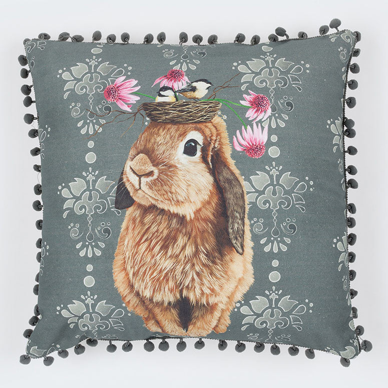 Greenbox Bubblegum Bunny Pillow 20X20