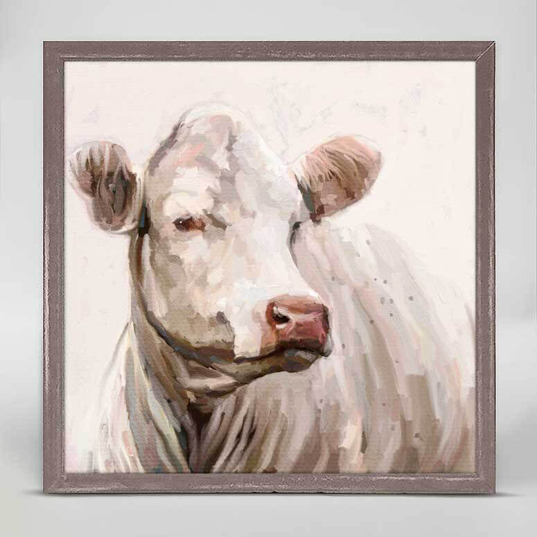 Greenbox Cow Life 1 Mini Framed Canvas