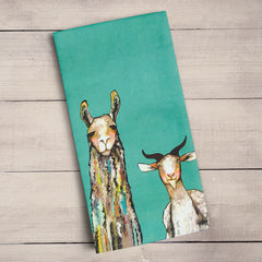 Greenbox Donkey Llama Goat Sheep Tea Towel