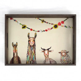 Greenbox Donkey Llama Goat Wooden Tray