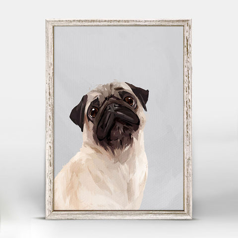 Greenbox Puggy Love Mini Framed Canvas
