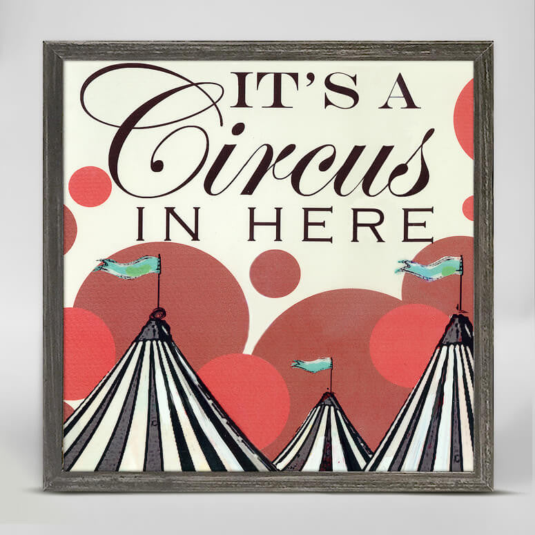 Greenbox Its A Circus In Here Mini Framed Canvas