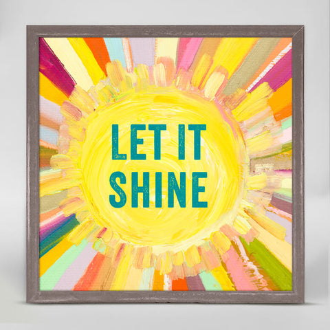 Greenbox Let It Shine Mini Framed Canvas