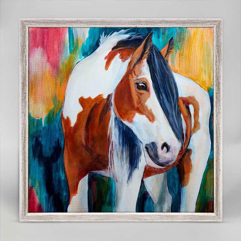Greenbox Mustang Mare Mini Framed Canvas