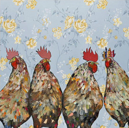Greenbox Roosters Canvas