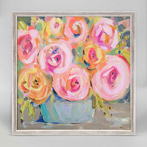 Greenbox Rosa Fina Mini Framed Canvas