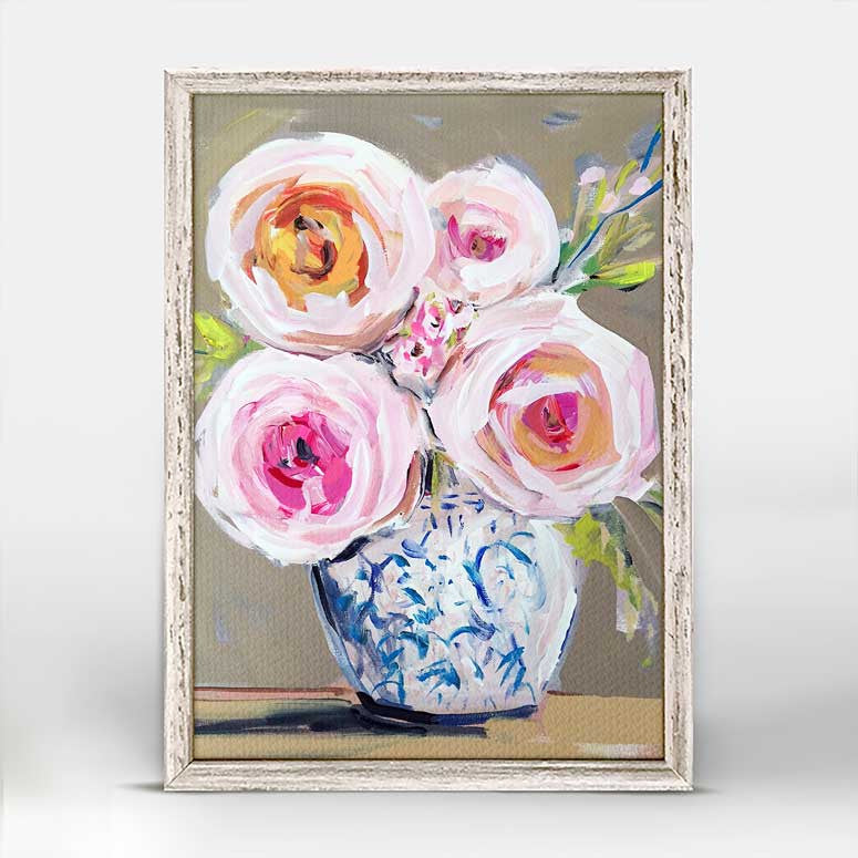 Greenbox Roses Du Jour Mini Framed Canvas