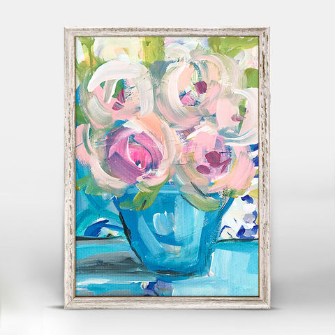 Greenbox Saturday Flowers Mini Framed Canvas
