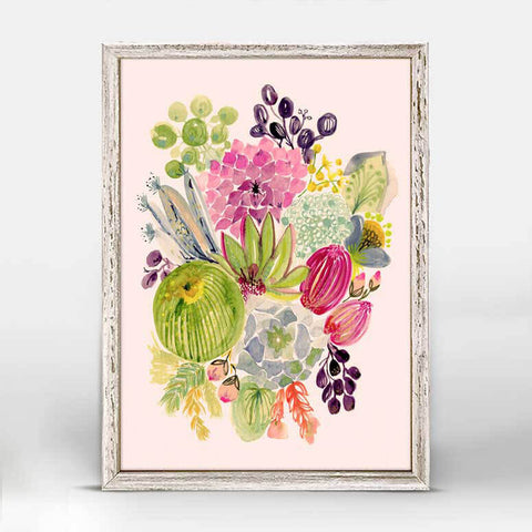 Greenbox Succulent Bouquet Mini Framed Canvas