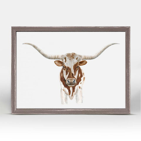 Greenbox Texas Longhorn Mini Framed Canvas