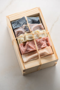 5 Soap Gift Set with Custom Wooden Mini Crate