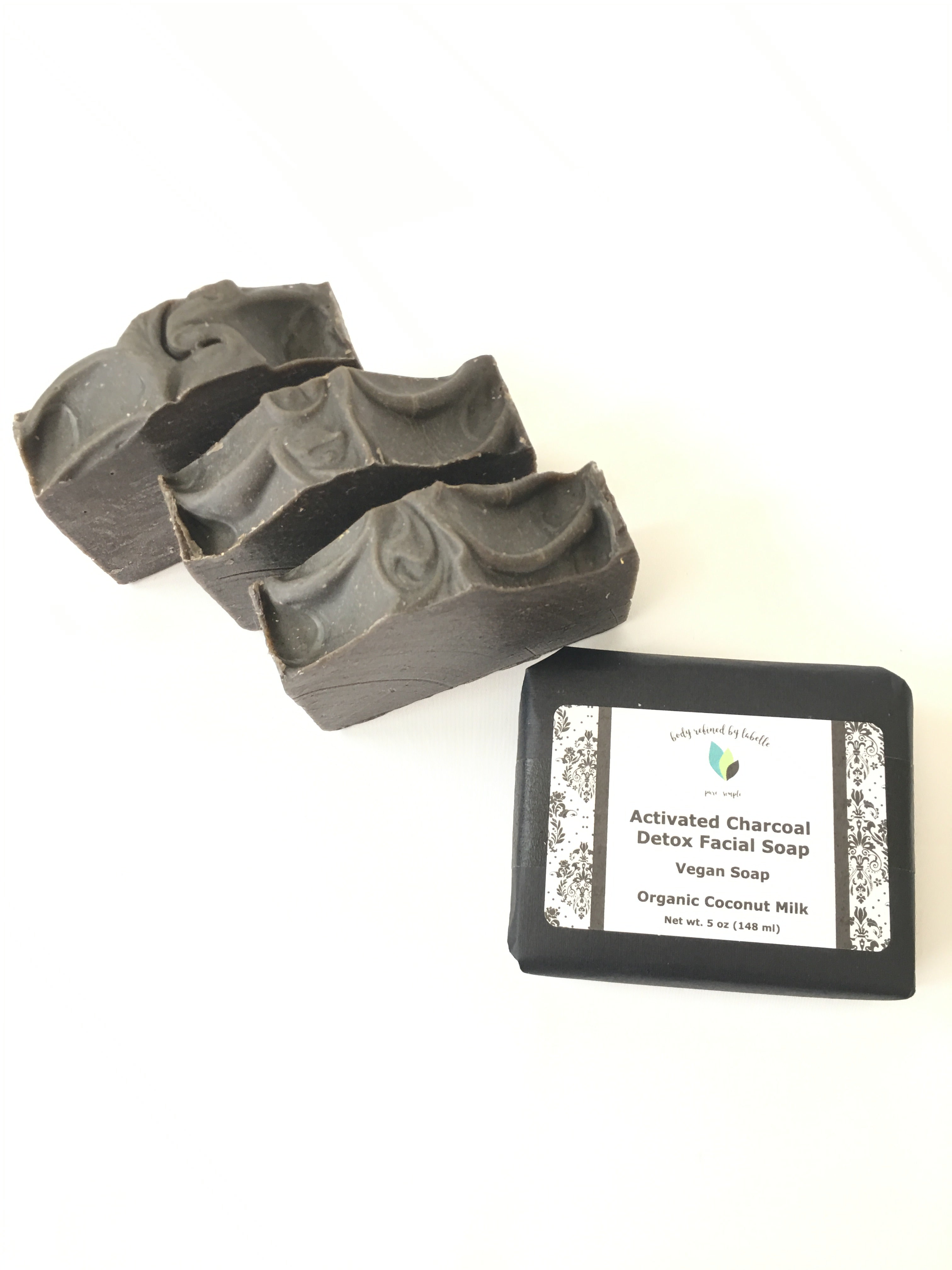 Acne Activated Charcoal Facial Detox Soap Bar Unscented