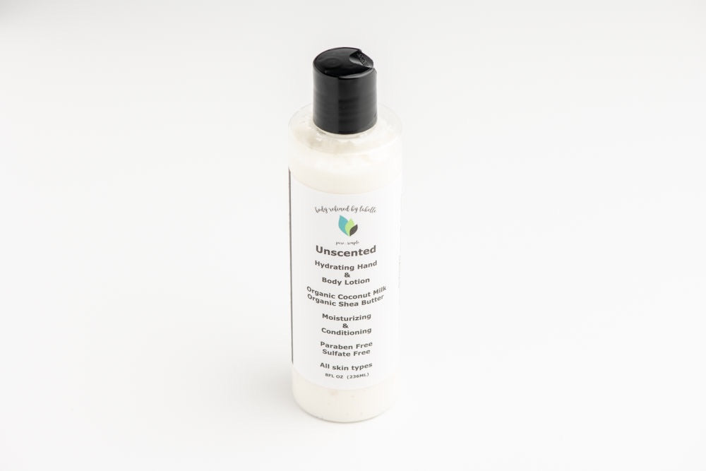 Unscented Hand and Body Lotion | Vegan | Coconut Milk Body Lotion