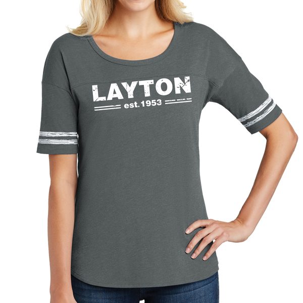 District Made Ladies Scorecard Tee