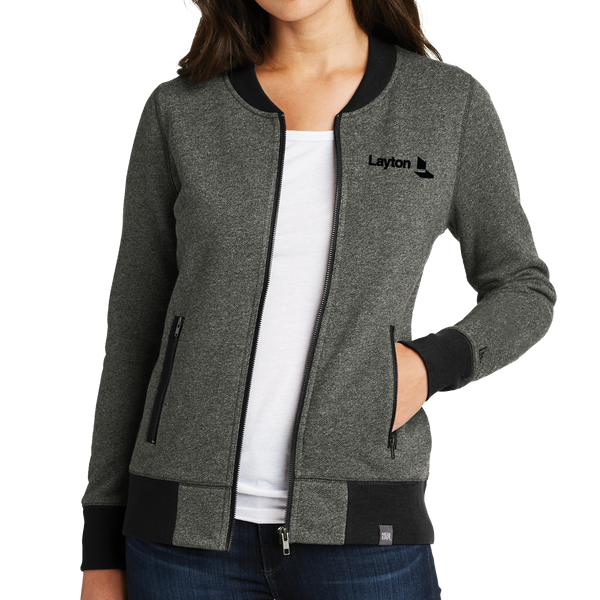 New Era Ladies French Terry Baseball Full-Zip