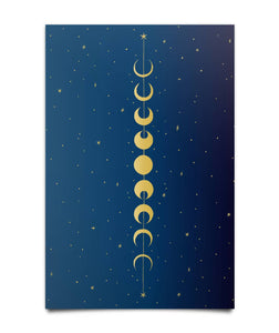 """Lunar Cycle"" Wall Poster - Moonsun Malibu"