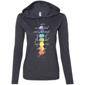 """Crown Chakra Mantra"" Ladies' T-Shirt Longsleeve Hoodie - Moonsun Malibu"