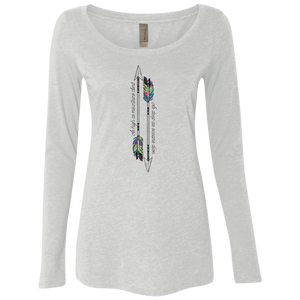 """Mountains & Oceans"" Ladies' Triblend Longsleeve - Moonsun Malibu"