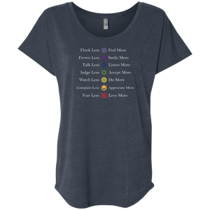 """Chakra Creed"" Ladies' Triblend Tee - Moonsun Malibu"
