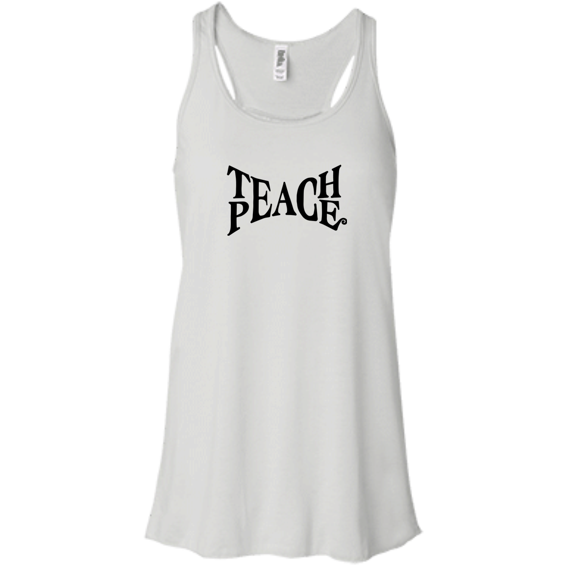 """Teach Peace"" Flowy Ladies' Tank - Moonsun Malibu"