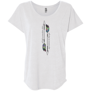 """Mountains & Oceans"" Ladies' Triblend Tee - Moonsun Malibu"