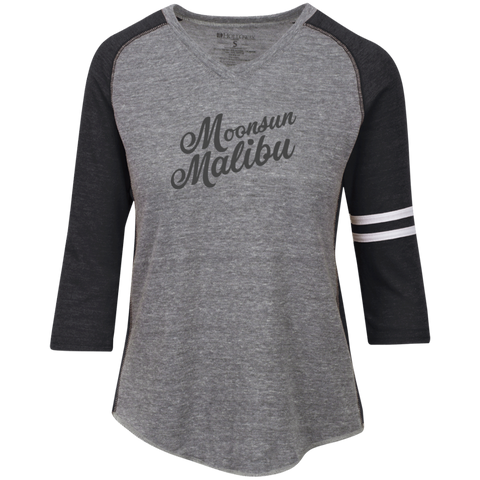 """Moonsun Malibu"" Ladies' Vintage 3/4 Tee - Moonsun Malibu"