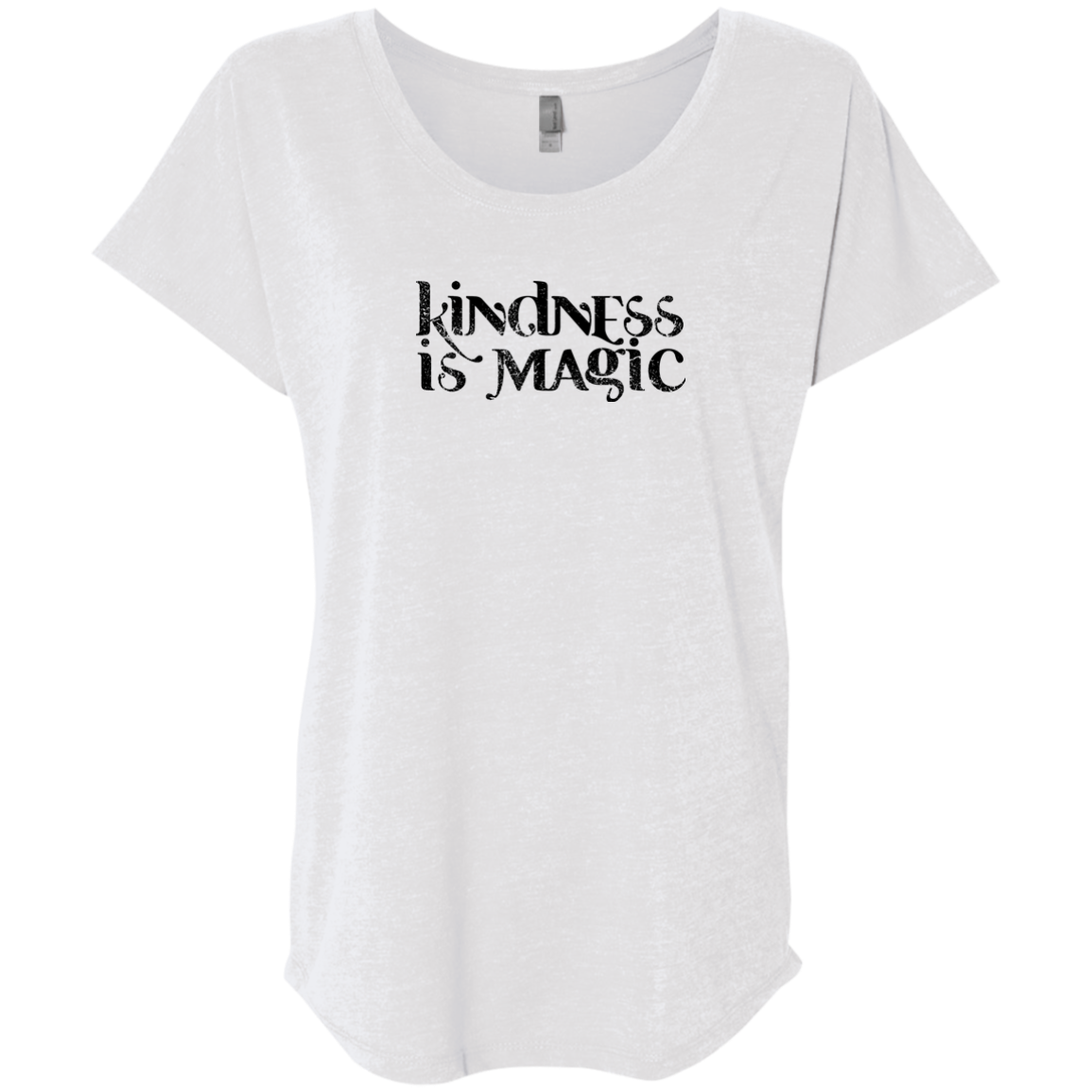 """Kindness Is Magic"" Ladies' Triblend Tee - Moonsun Malibu"