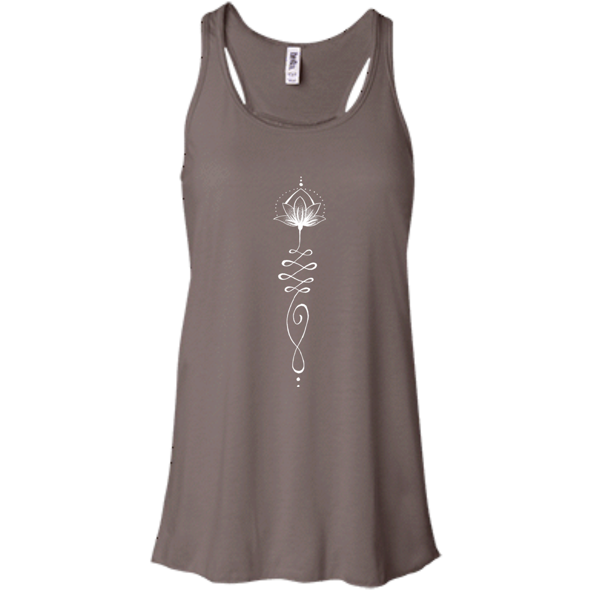 """Lotus Touch"" Flowy Ladies' Tank - Moonsun Malibu"