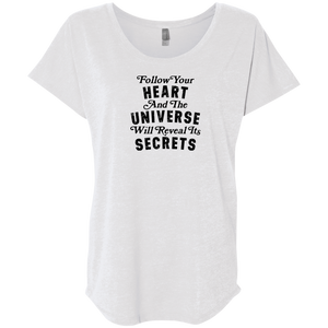 """Follow Your Heart"" Ladies' Triblend Tee - Moonsun Malibu"