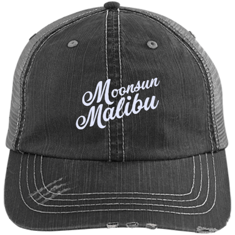 """Moonsun Malibu"" Distressed Trucker Cap - Moonsun Malibu"