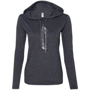 """Mountains & Oceans"" Ladies' T-Shirt Longsleeve Hoodie - Moonsun Malibu"