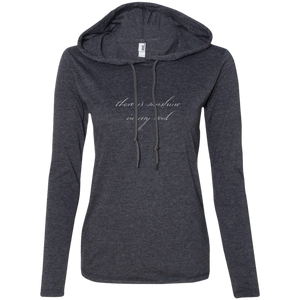 """Sunshine In My Soul"" Ladies' T-Shirt Longsleeve Hoodie - Moonsun Malibu"