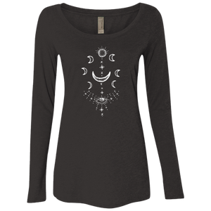 """Moonsun Aura"" Ladies' Triblend Longsleeve - Moonsun Malibu"