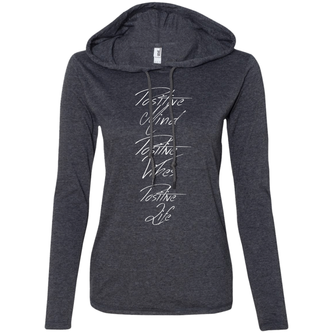 """Positivity"" Ladies' T-Shirt Longsleeve Hoodie - Moonsun Malibu"