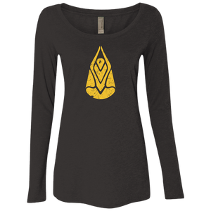 """Divine Connection"" Ladies' Triblend Longsleeve - Moonsun Malibu"