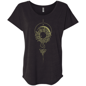 """Eclipse"" Ladies' Triblend Tee - Moonsun Malibu"