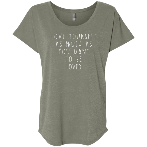 """Love Yourself"" Ladies' Triblend Tee - Moonsun Malibu"